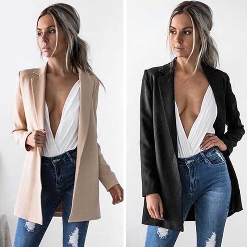 Hot Fashion Women Ladies Suit Coat Business Blazer Long Sleeve Jacket Outwear