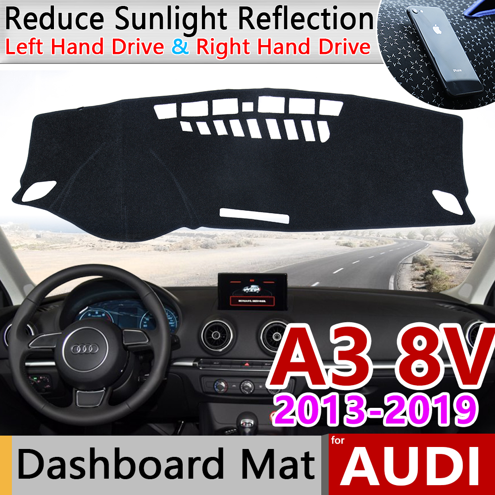 for Audi A3 8V 2013 2014 2015 2016 2017 2018 2019 Anti-Slip Mat Dashboard Cover Pad Sun Shade Dashmat Carpet Accessories S-line image