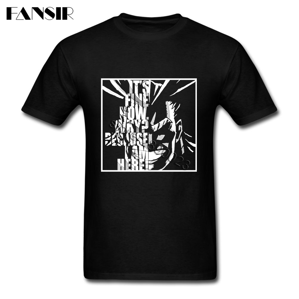 New Coming Men's T Shirts All Might My Hero Academia Short Sleeved Cotton O-neck T-shirt For Boy Clothes