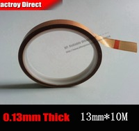 1 Roll 13mm 10 Meters 0 13mm PTFE High Temperature Withstand Insulation Adhesive Teflon Tape Hot