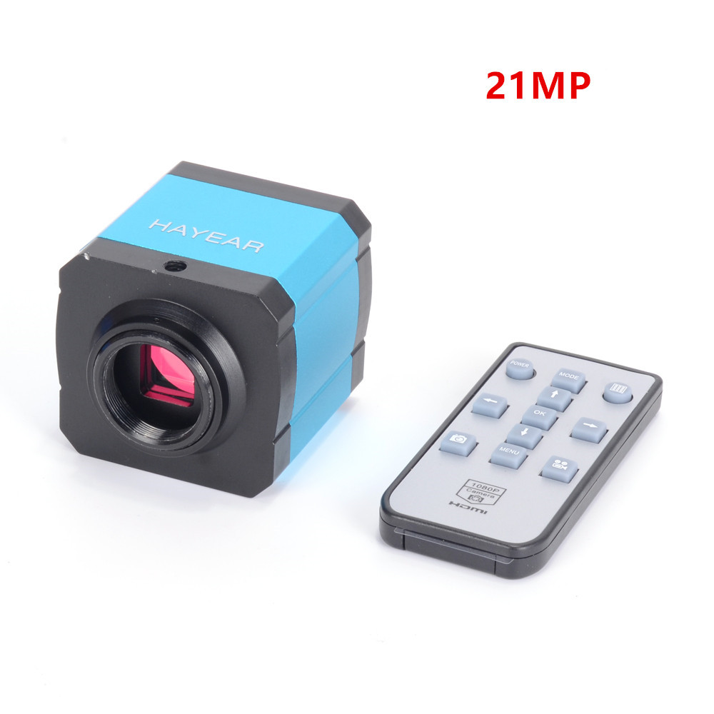 HD 21MP 2K 1080P 60fps Industrial Camera HDMI USB Simultaneous Output Microscope Magnifier TF Storage Phone