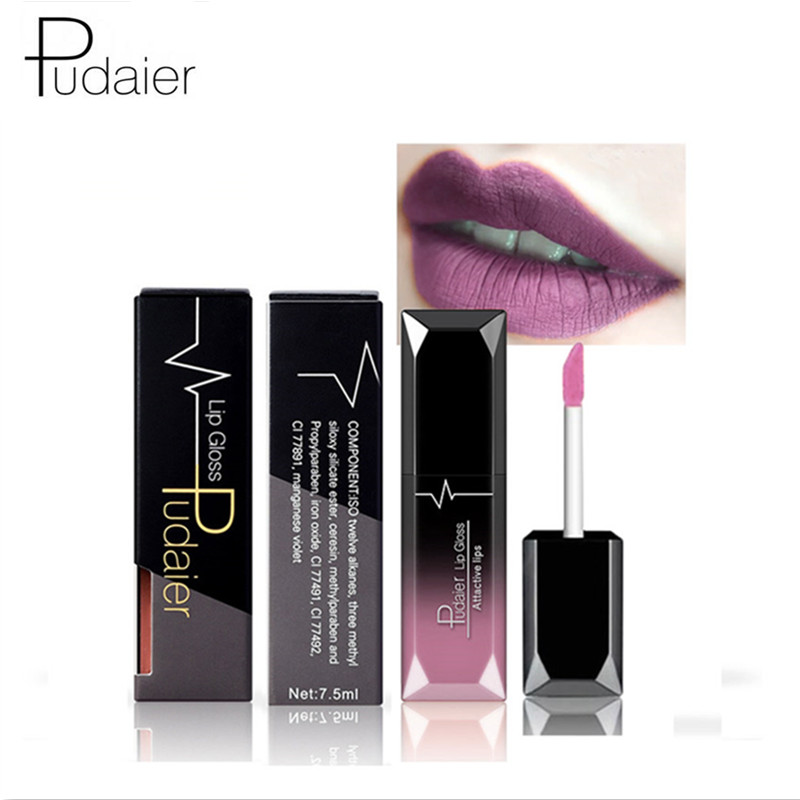 PUDAIER Waterproof Velvet Liquid Lipstick Sexy Red Lip Tint 21 Colors Make up Long Lasting maquiagem Matte Nude Glossy Lipgloss 2