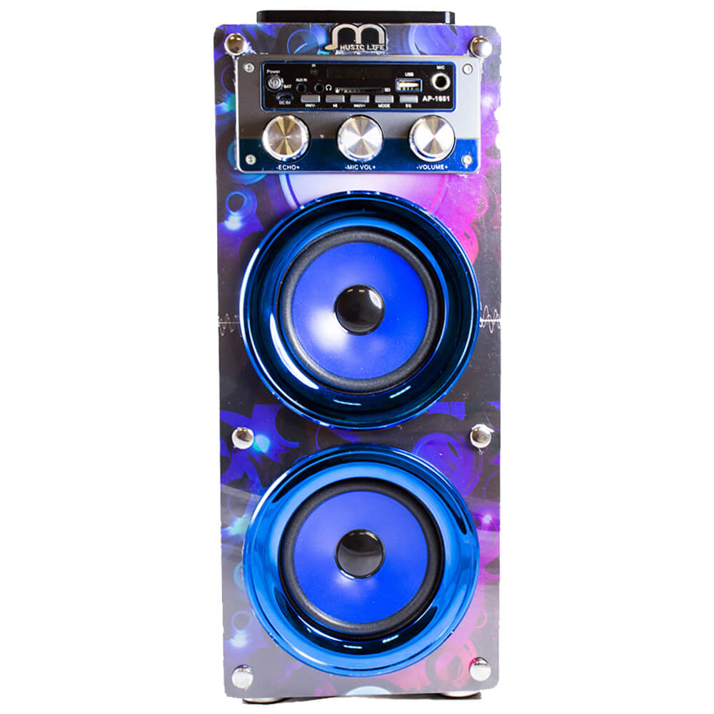 Karaoke Speaker Bluetooth Wireless Portable with Microphone FM Radio USB HiFi SD Card Rechargeable with Remote wireless bluetooth speaker led audio portable mini subwoofer