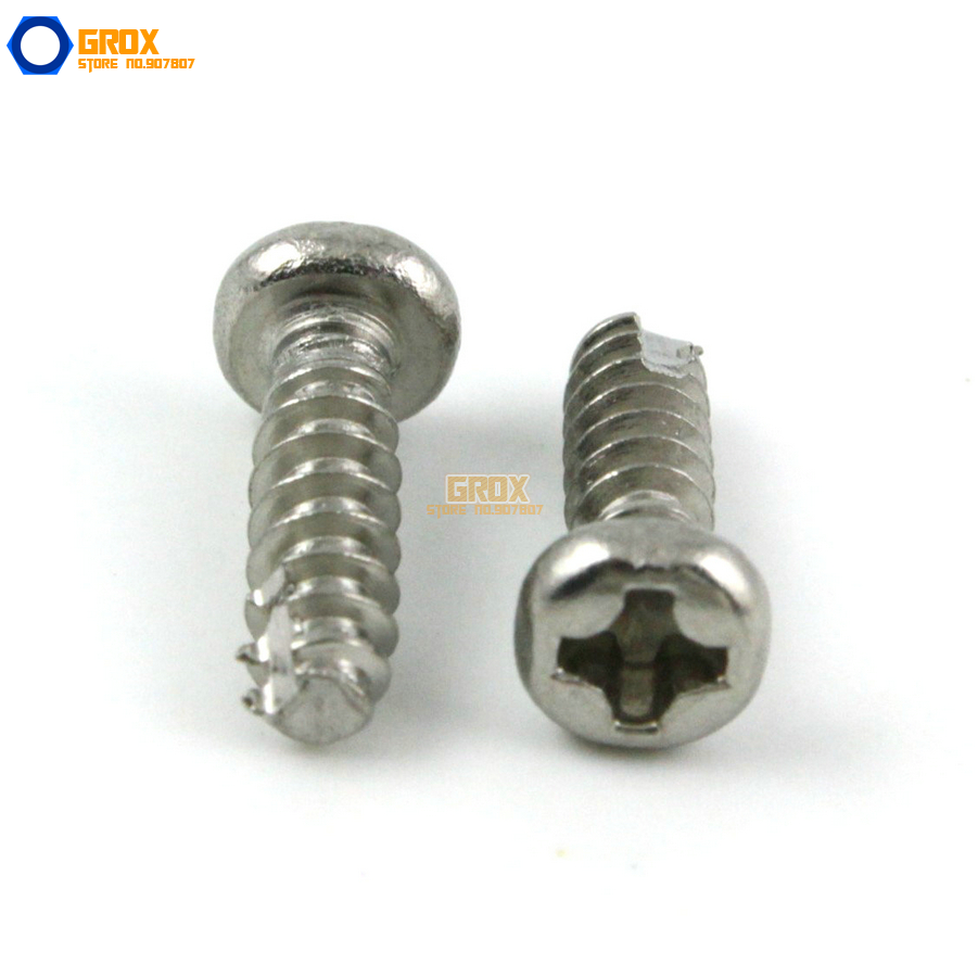 M2 Pan Head Phillips Cut Tail Screw 304 Stainless Steel Self Tapping 2017 new real axk 100pcs m1 7 m2 m3 stainless steel electronic screw cross recessed phillips round pan head self tapping