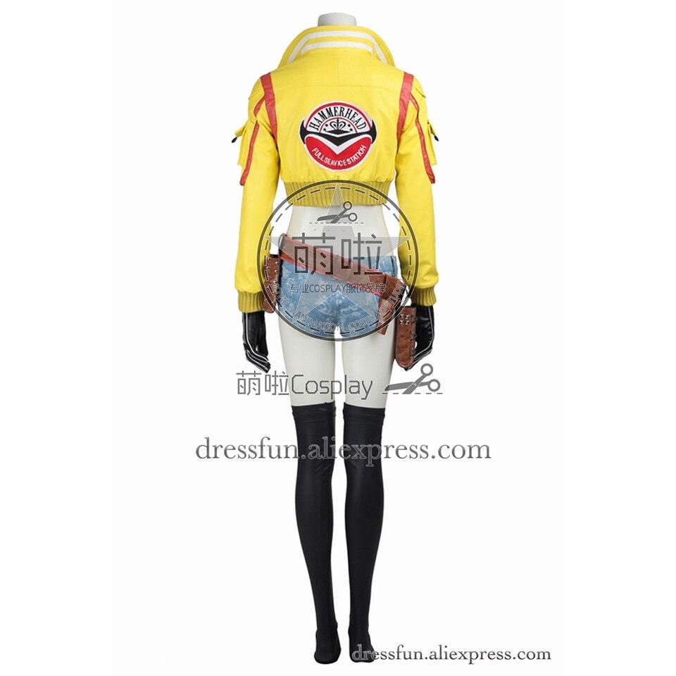 Finale fantaisie XV Cosplay Costume Cindy Aurum Costume jaune veste jeu uniforme tenues décontractées ensemble complet fête Halloween Shorts - 4