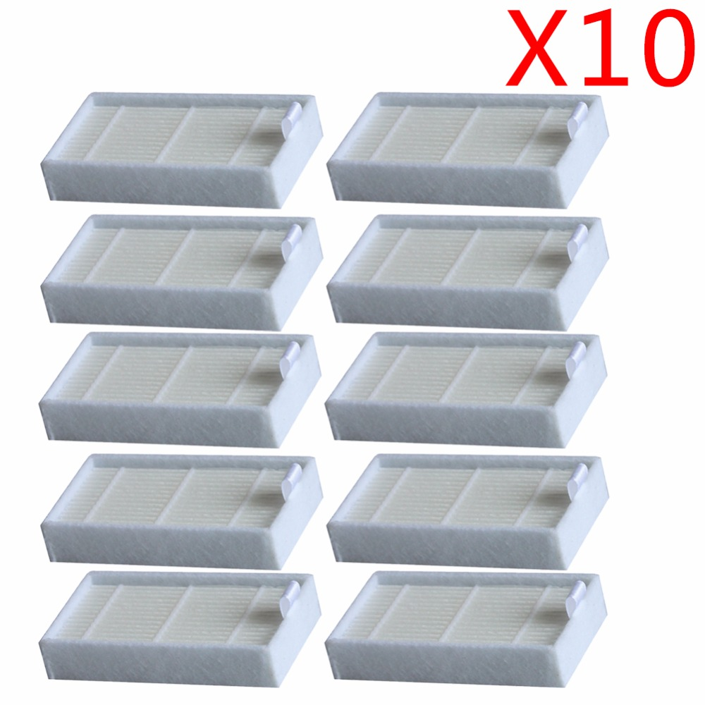 10pc Vacuum Cleaner Filters HEPA Filter for CHUWI V3 iLife X5 V5 V3+ V5PRO ECOVACS CR130 cr120 CEN540 CEN250 ML009 Cleaner Parts