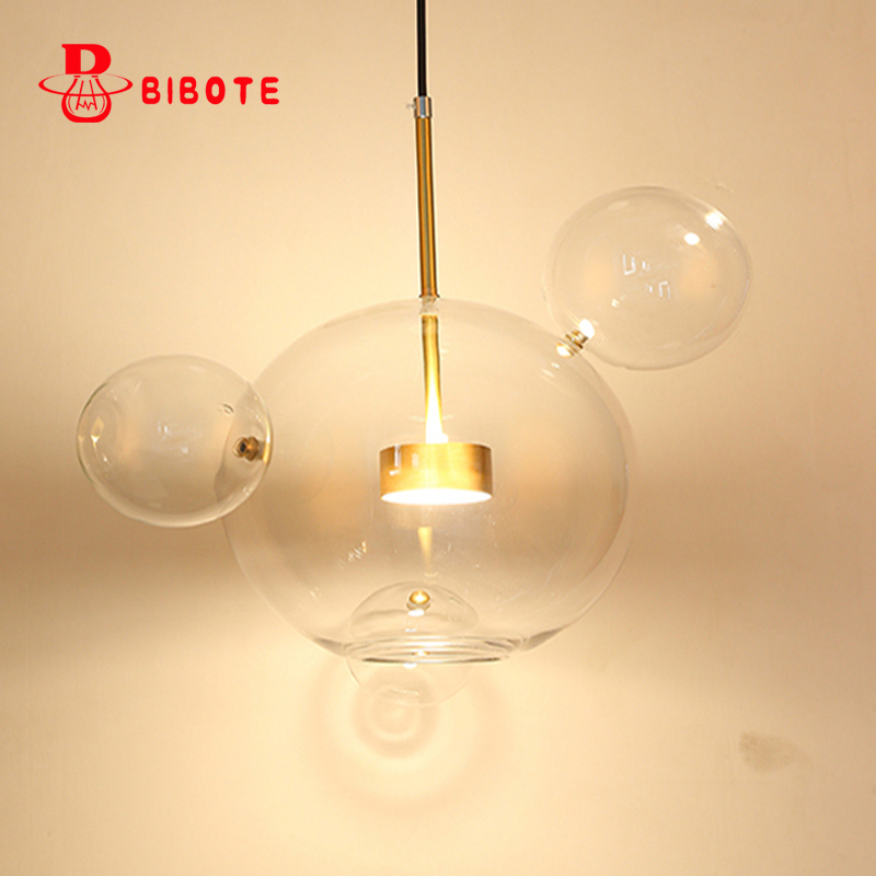 Modern led glass pendant light Bubble ball glass hang lighting living room restaurant bedroom led pendant lamp free shipping стоимость