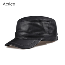 HL098  genuine leather men baseball cap hat CBD high quality  men's real leather adult solid adjustable hats caps цена в Москве и Питере