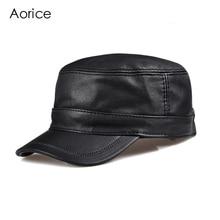 цена на HL098  genuine leather men baseball cap hat CBD high quality  men's real leather adult solid adjustable hats caps