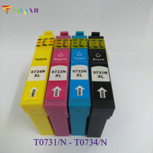 1Set T0731-4 Ink cartridge For Epson T0731-T0734 Stylus CX7310 CX8300 CX7300 CX5501 CX5505 CX5510 Printer