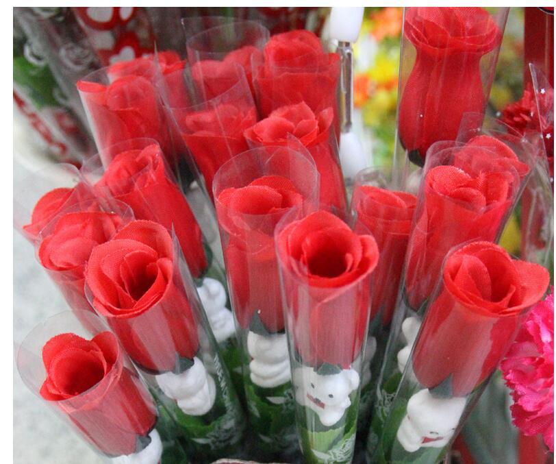 50pcs gift simulatiion roses silk flower wholesale valentines day, Ideas