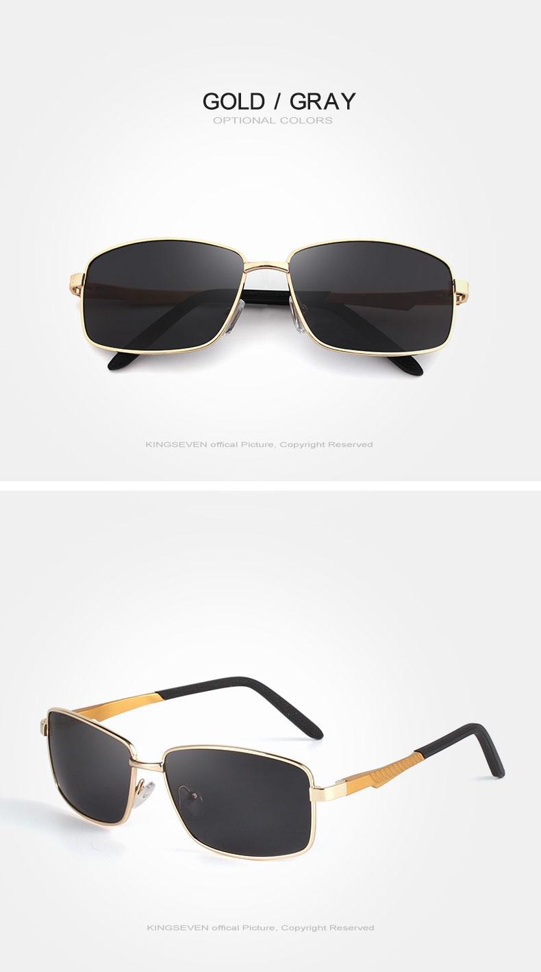KINGSEVE Brand rectangular sunglasses male and female neutral sunglasses retro sunglasses with polarized lenses uv 400 3