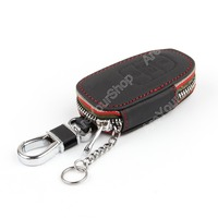 For Audi A6 2012 2014 A8 2011 2013 Leather Key Cover Case Bag Holder Ring Chain