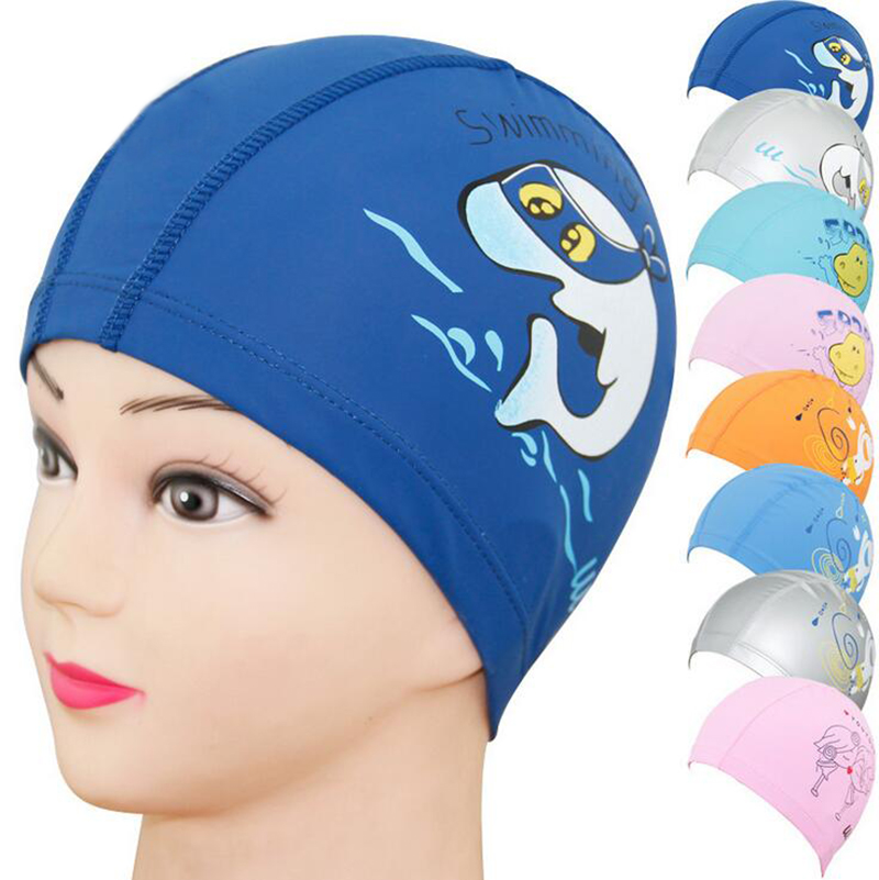ADULT CHILD Adults or Kids LYCRA SWIMMING CAP YELLOW LEOPARD PRINT Swim Hat