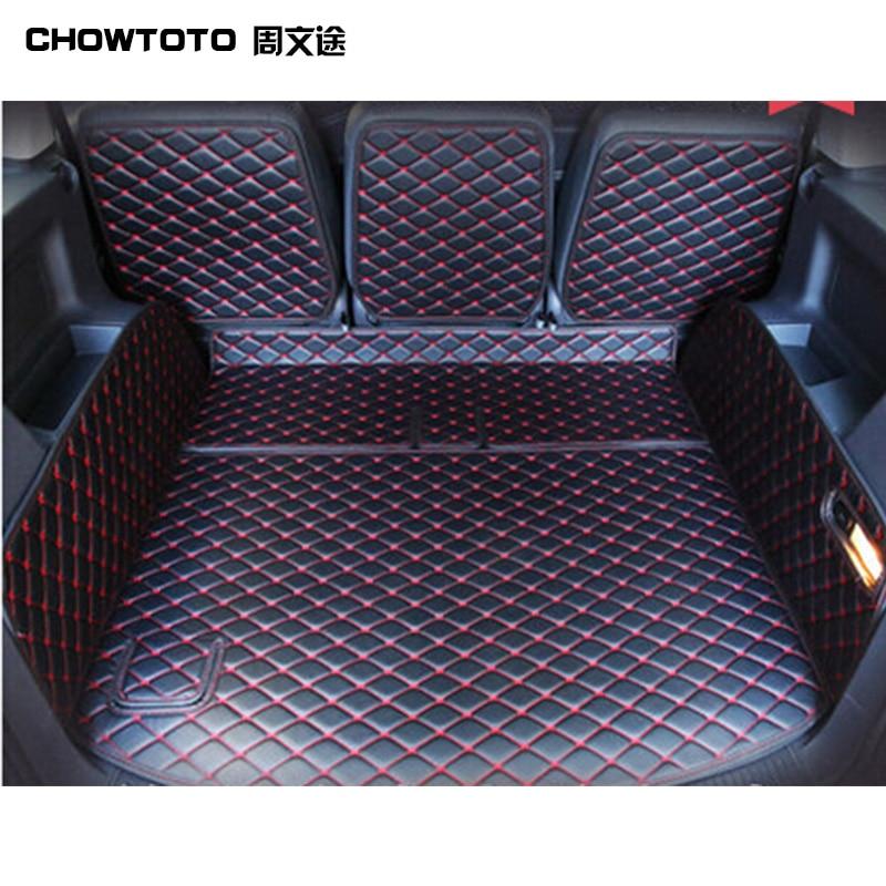 CHOWTOTO коврики для багажника Volkswagen Touran Tiguan Touareg Sharan прочные водонепроницаемые коврики для багажа для Touran автомобильный Стайлинг коврик для ба