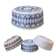5 חתיכה המוסלמית כובעי הודו את כובע טורבן גברים אסלאמית ערבית ערב Topi האיסלאם Namaz תפילת כובעי חיג אב Veludo סאטן מצנפת