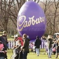 Открытый украшения 6 м гигантский Фиолетовый надувные пасхальное яйцо для больших событий