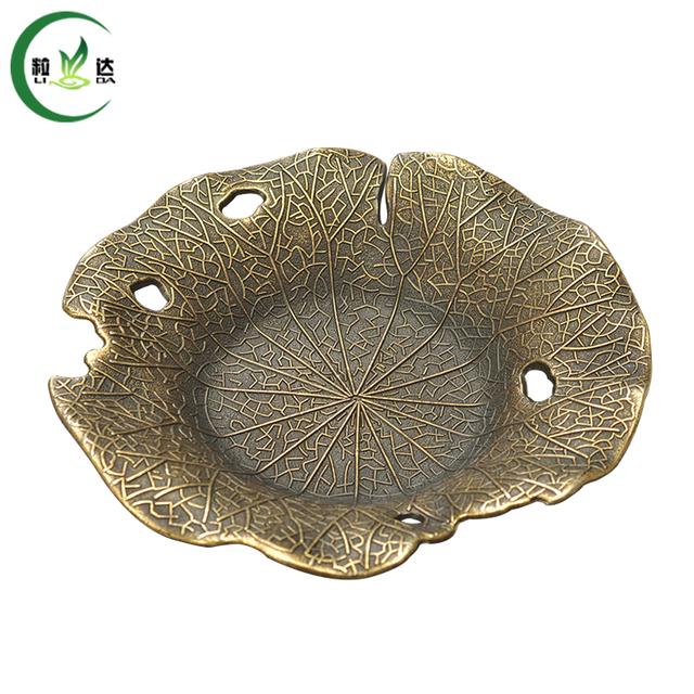 3pcs Lotus Shaped Metal Tea Cup