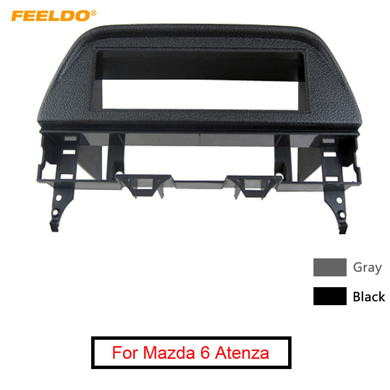 FEELDO Car 1 <font><b>Din</b></font> CD/DVD Stereo Fascia Frame Panel for <font><b>Mazda</b></font> <font><b>6</b></font> Atenza 02-07 Refitting Dash Mounting Trim Kit #MX4999 image