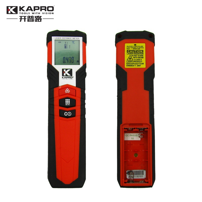 KAPRO High Precision hand-held laser range finder Laser Distance Meter Infrared measuring instrument Electric gauge kapro laser level laser angle meter investment line instrument 90 degree laser vertical scribe 20 meters