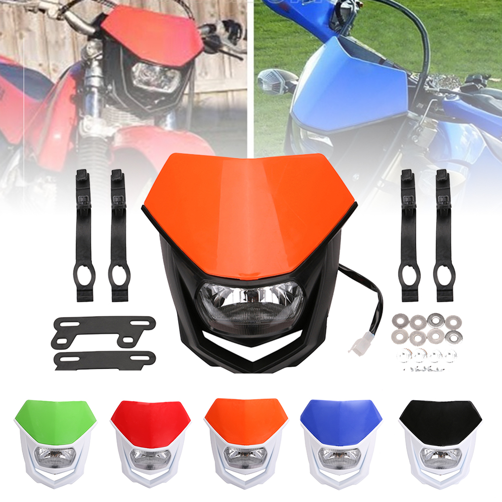 SPEEDPARK Universal 35W Motorcycle Enduro Headlight H4 Head Light For Yamaha YZ YZF WR WRF DT XT