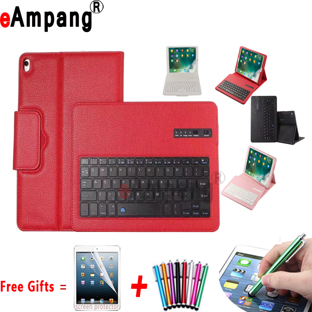 Bluetooth Keyboard Cover Case for Apple iPad Pro 10.5 inch A1701 A1709 Tablet Coque Capa Funda with Bluetooth Keyboard +Pen+Film case for ipad pro 10 5 ultra retro pu leather tablet sleeve pouch bag cover for ipad 10 5 inch a1701 a1709 funda tablet case