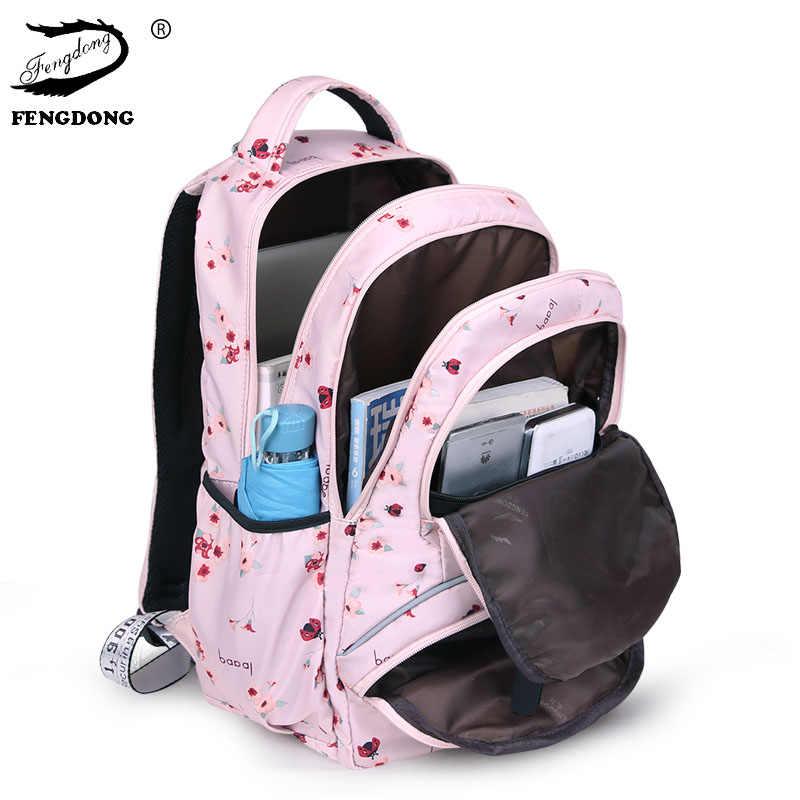 Nueva gran mochila lindo estudiante escuela mochila impreso impermeable Mochila De La Escuela Primaria bolsas de libros para chicas adolescentes niños