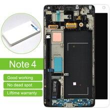 Горячие продажи 1 шт. 100% оригинал с рамкой для samsung примечание 4 N9100 Жк-Дисплей С Сенсорным Экраном Дигитайзер Ассамблеи Бесплатный доставка