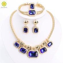Fina joyería de perlas establece sistema cristalino del collar de nigeria boda accesorios nupciales Collare conjuntos de joyería de fantasía
