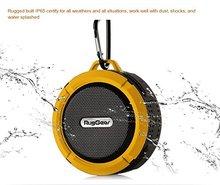 RugGear Waterproof Bluetooth Speaker – RG Satellite 2 Shockproof Waterproof Sport Outdoor Military Bluetooth Speakers (Yellow)