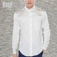 Retro white navy men natural silk shirts long sleeve business shirt cheap chemise homm camiseta masculina vetement homme LT1501