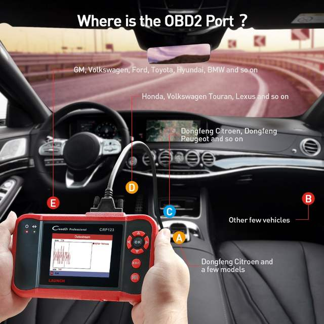 US $126 4 21% OFF Launch X431 CRP123 obd2 code reader Scanner test  Engine/ABS/SRS/AT X 431 CRP 123 Auto Diagnostic Tool free update creader  vii+-in