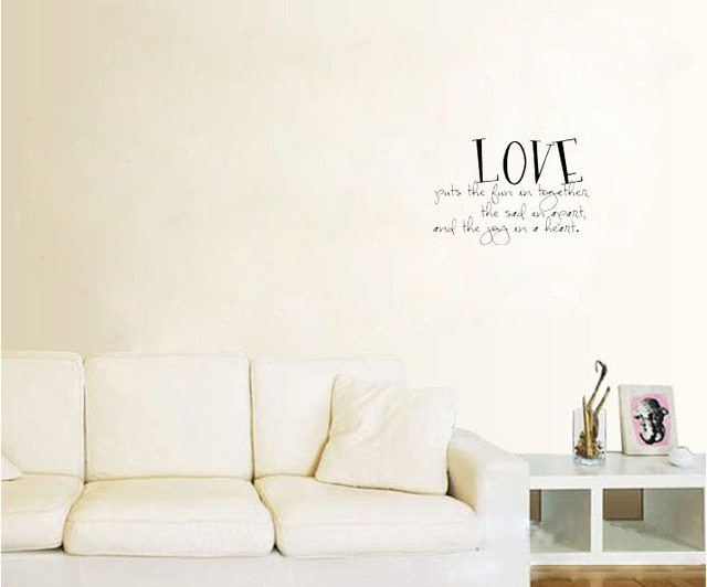 Love Puts The Fun Wall Decals Vinyl Stickers Home Decor Living Room Decorative  Stickers Wallpaper Quote Part 74