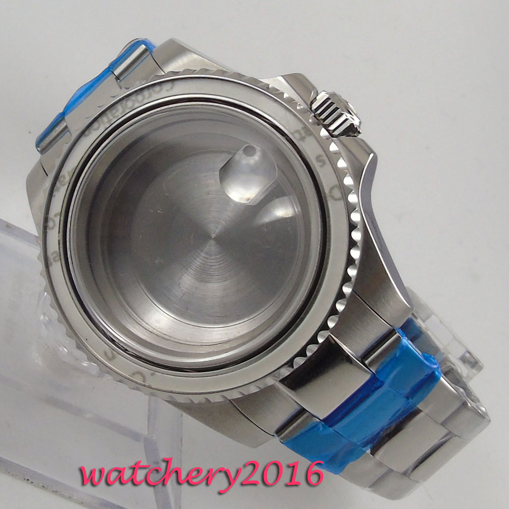 40mm Stainless steel Sapphire Glass Watch Case fit ETA 821A 2836 Movement40mm Stainless steel Sapphire Glass Watch Case fit ETA 821A 2836 Movement