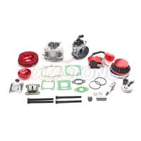 Cylinder Kit 19mm Carburetor Air Filter for 2 Stroke 47cc 49cc Pocket Bike Mini ATV Quad