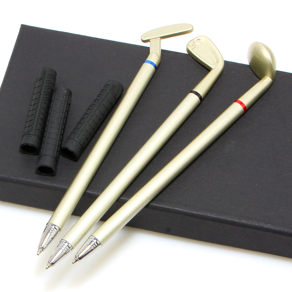 Creative Fashion Mini Golf Ballpoint Pen Gift Box Set Desktop Decor for Office School Supplies Stationery