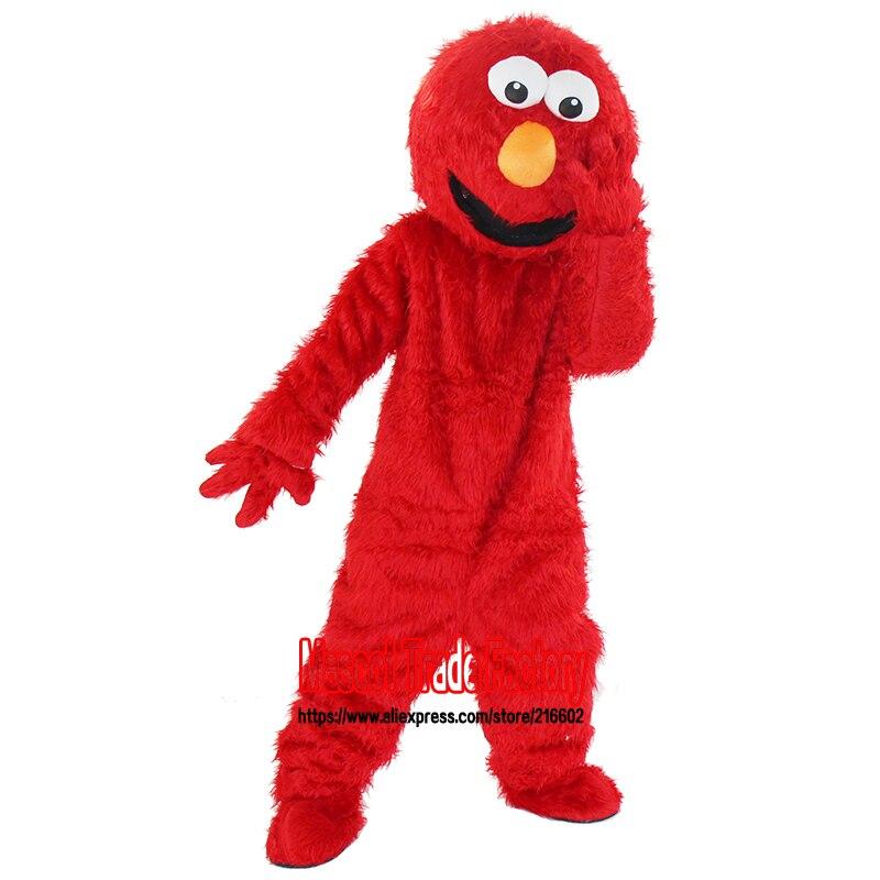 Fabrika birbaşa yüksək keyfiyyətli satılır Uzun Fur Elmo Mascot - Karnaval kostyumlar - Fotoqrafiya 3