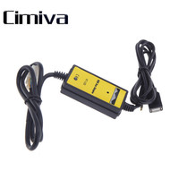 Cimiva Auto Car USB 3 5mm Aux In Adapter MP3 R Cable Radio Interface Car AUX
