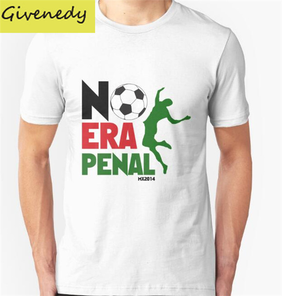 No Era Penal MX printing 2016 New Summer Design cotton short sleeve O-Neck T-Shirt Fashion Tee Shirts Plus Size