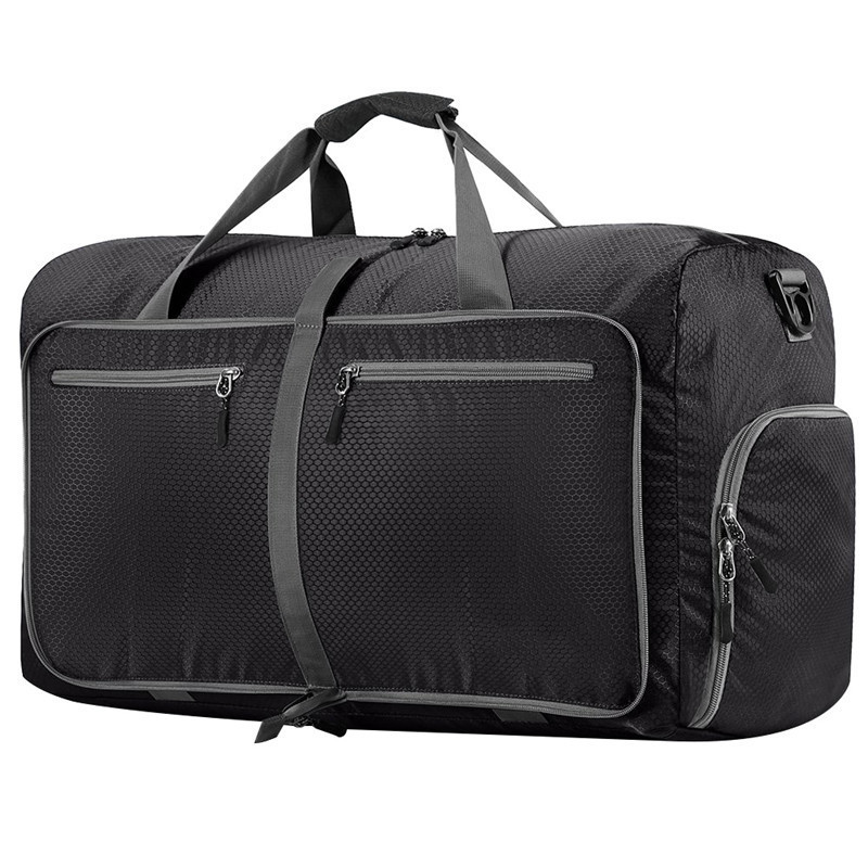80L Large Travel Duffel Bag For Women & Men Foldable Duffle For Luggage Gym Sports Water Resistant Nylon outdoor sports bike water resistant bag mount holder for samsung galaxy s3 i9300 black