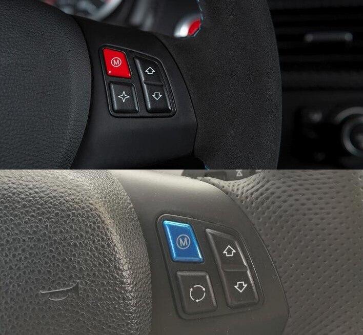 Rot Blau Sport Lenkrad M Modell Schalter Taste Für BMW 1 3 Serie E81 E82 E87 E88 2004- 2011 E90 E92 E93 M1 M3 2007-2013
