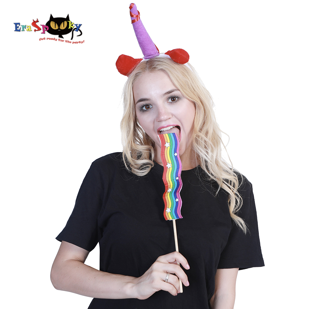 Eraspooky costume accessories unicorn party unicorn headband and rainbow roller halloween costumes accessory for women