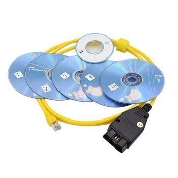 2018 nuevo ESYS Cable de datos para BMW ENET Ethernet a OBD interfaz E-SYS  ICOM de codificación