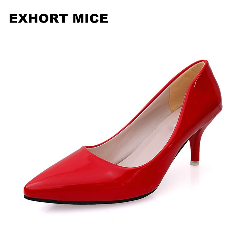 2019 Super High Women Shoes Pointed Toe Pumps Patent Leather Dress High Heels Boat Wedding Shoes Zapatos Mujer Pattern Silver