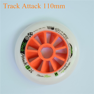 Image 5 - Track attack TS XFirm 110mm 100mm 90mm Inline Speed Skates Wheel using 608 bearing for Powerslide for MPC for STS 8pcs/lot