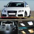 O Envio gratuito de 15 Pçs/lote 12 v Xenon Branco/Azul Kit Luzes LED Interior de Pacote Para Audi A4 (B8) Avant 2009