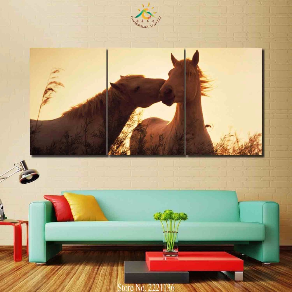 3 4 5 platten/set Pferde Verlieben HD Gedruckt Malen Home Decoration ...