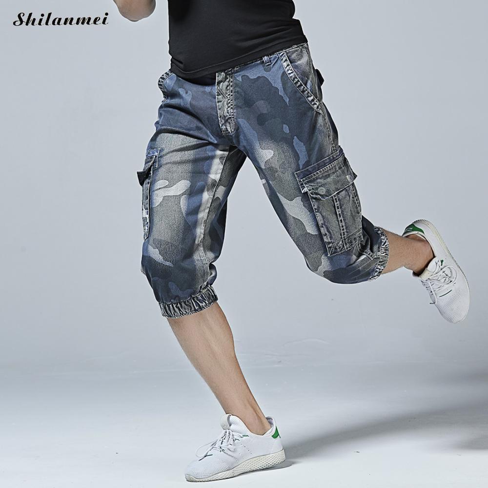 Men Camouflage Cargo Shorts Summer Multi-Pocket Loose Casual Short Brand Men Clothing 2018 Comfortable Camo Men Cargo Shorts 40