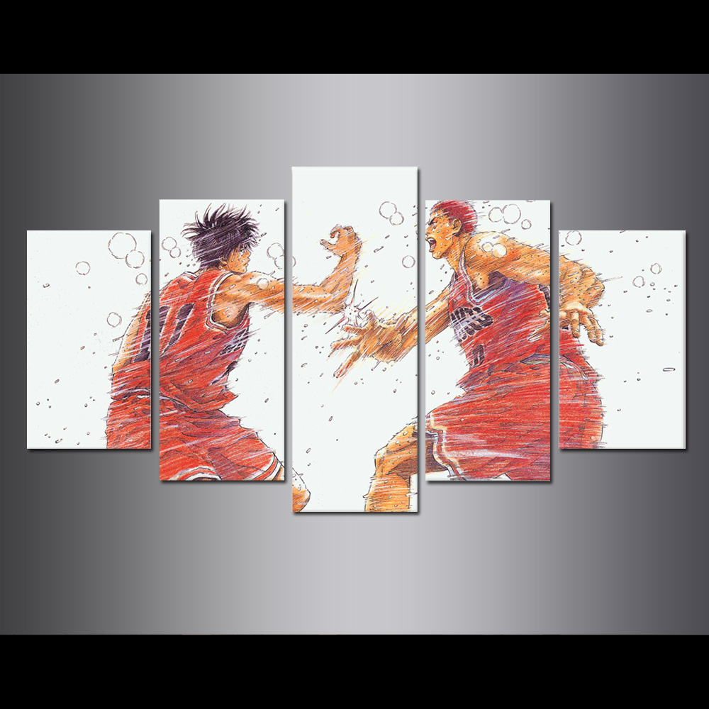 Unframed Canvas Painting Animation Slam Dunk Giclee Modular Picture Prints Pictures For Living Room Wall Art Decoration