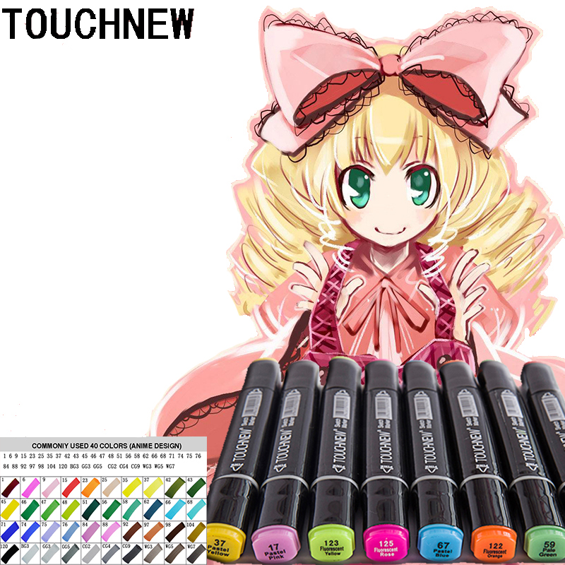 TOUCHNEW 40 colors Art marker copic markers Sketch markers ...